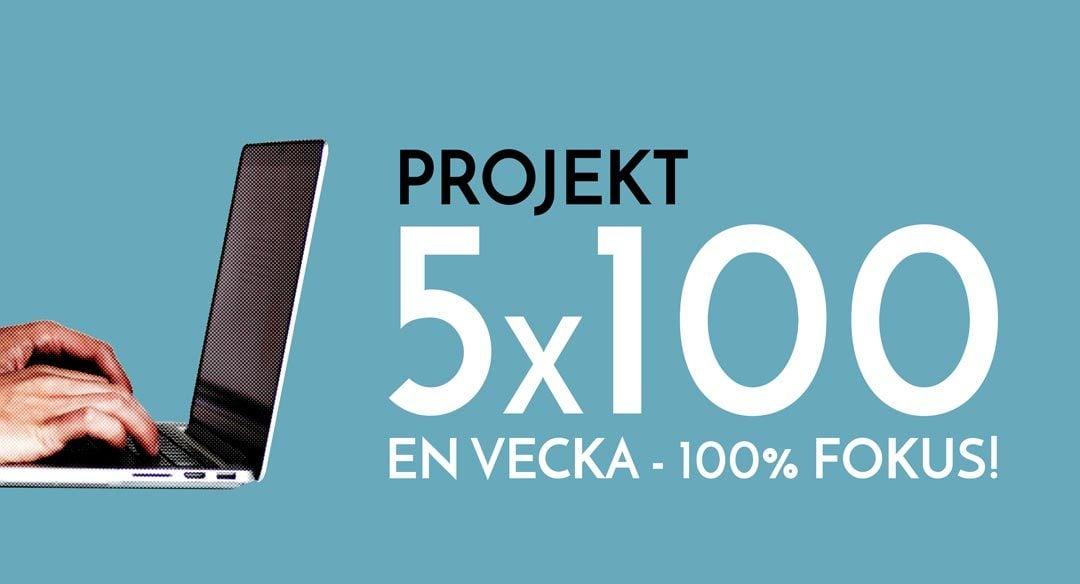 Liveblogg: Projekt 5×100